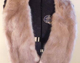 Vintage Fur Collar Mink Collar Light Golden Mink Collar