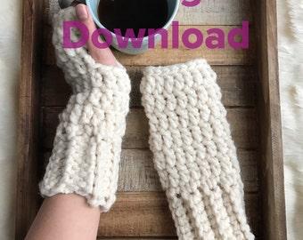 Chunky crochet fingerless gloves PATTERN, Penelope gloves PDF Pattern, Easy Crochet pattern for thick fingerless gloves, Penelope mittens
