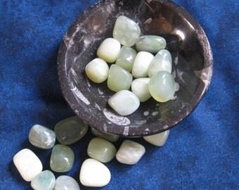 Serpentine Tumblestone, Meditation Crystal, Tumbled Stone, Crystal Healing, Green Crystal, Healing Crystal, Polished Crystal, Lucky Pebble