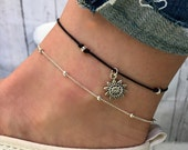 Silver Beaded anklet Jasmine Anklet Silver ankle bracelet Beaded Anklet boho anklet beach anklets silver anklet by Serenity Project.