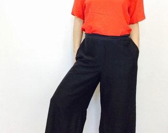 Oscar de la renta silk shirt red Silk boxy blouse red silk blouse red silk s shirt silk blouse silk oversized blouse 90s silk top 90s shirt