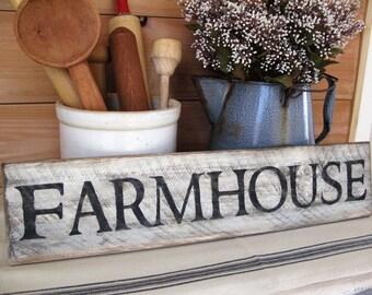 Farmhouse Wall Decor - Farmhouse Sign - 24 inches x 5.5 inches - Rustic Wood Hand Painted  Farmhouse Sign - Farmhouse Wood Sign White
