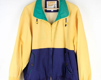 Vintage 90s Color Blocked Jacket by Clipper Mist
