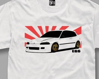 Tshirt for EG6 honda civic vtec fans t-shirt jdm white S - 5XL