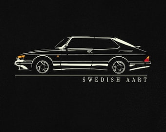 T-shirt for saab 900 turbo fans sweden classic car swedish art tshirt S - 5XL + sweatshirt