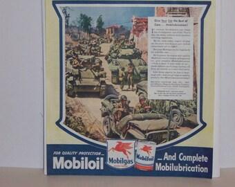 Original 1945 Mobiloil Magazine Advertisement