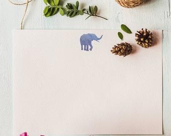 Elephant Stationery - Set of 12 Correspondence Cards
