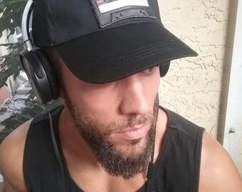 """Black """"Mix Tape"""" Baseball Cap"""