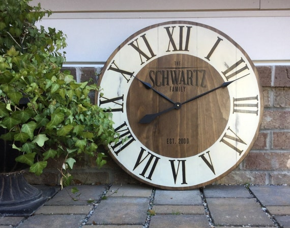 Wedding Gift Clock: Large Wall Clock Custom Clocks Best Wedding Present