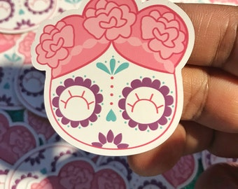 "Cute Sugar Skull Magnets Dia De Los Muertos 1.98"" x 2"""