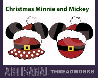 Chirstmas Santa Mickey and Minnie svg, digital file, silhouette, cricut, vinyl, decal, htv, life svg, cut file, jpeg, png, dxf, svg,studio