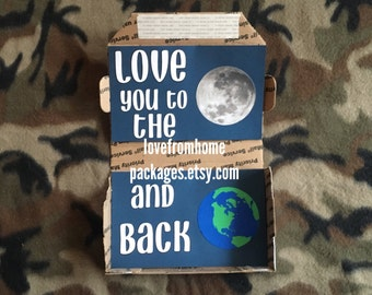 Love you to the moon and back care package kit SMALL