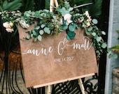 Wedding Welcome Sign - Name sign - Wedding Signs - Wood Wedding Sign - Wooden Wedding Signs - Wood - Rustic Wood Wedding Sign