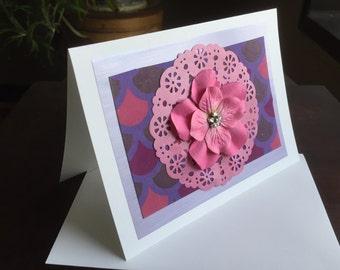 Handmade Cards w/Envelope, One of a Kind Art, Repurposed Art, Origami, Collage, Creative Cards, Original Handmade Cards