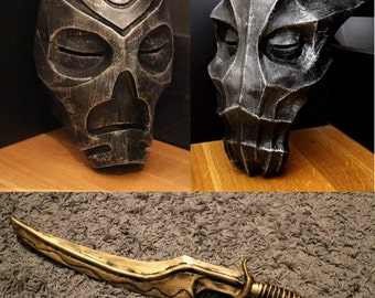 Skyrim inspired Dragon masks and dagger bundle with free worldwide shipping