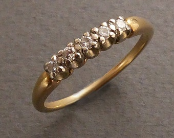 14K Dason 5 diamond band size 7.5