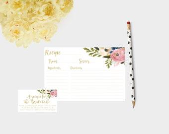 printable bridal shower recipe cards, bridal shower recipes, recipe for bride, recipes for the bride, Recipe cards for bride, bridal shower
