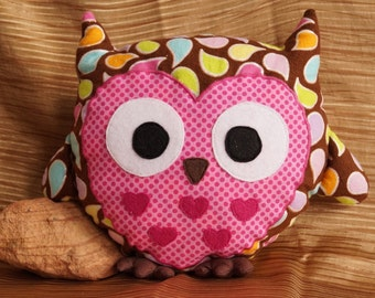 Stuffed Owl--Feather Flannel