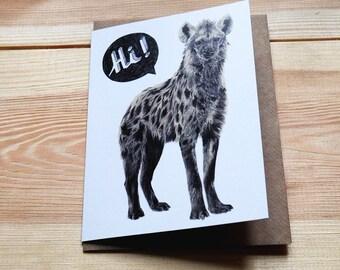 Hi Hyena - Greeting Card