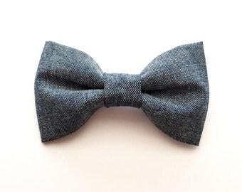 Chambray Bow Tie, Denim Bow Tie, Bow Tie, Blue Bow Tie, Bow Tie, Chambray, Boy Bow Tie