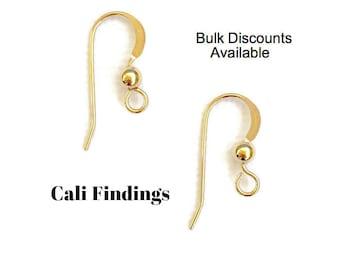 14K Gold Filled Earwires, Bulk Earwires, Gold Earring Hooks, Gold Filled Earrings, Gold Filled Earring Hooks, Earring Supplies [2070]