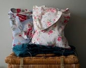 Cath Kidston Rose  Trailing Floral Print Cotton Book  Tote Bags