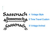 """The """"Sassenach"""" Decals 13"""" width or smaller SUPER LOW SHIPPING anywhere in the world!"""