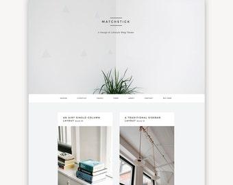 Responsive Wordpress Theme | Matchstick | Masonry Blog Theme Design | Self-Hosted WordPress.org | Genesis Child Theme