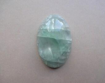 Fluorite oval cabochon 39x25 mm