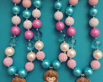 Mermaid chunky necklace