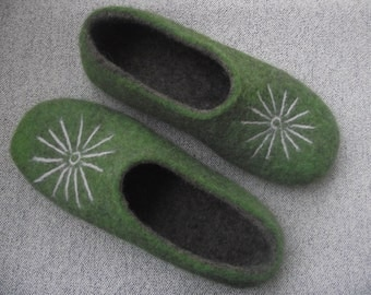 Felted slippers for women
