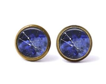 Taurus Constellation Stud Earrings | Taurus Earrings Constellation Jewelry Galaxy Earrings Zodiac Earrings Outer Space Stars Astrology