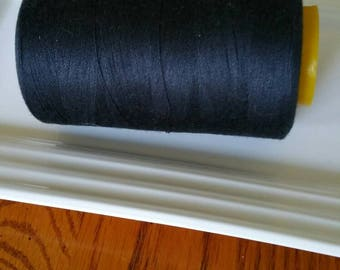 6000 yd Navy Blue Serger Thread / 100% Spun Polyester Cone Thread / Sewing Machine Thread / Apparel / Embroidery / Commercial / Quilting