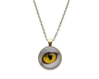 Eye necklace Anatomy jewelry Cat pendant