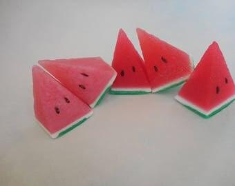 Watermelon Soap - Watermelon Slice - Melon Soap - Food Soap - Dessert Soap - Pool Party Favors - Family Reunion Gifts - Custom Novelty Soap