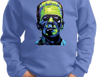 Kid's Frankenstein Face Sweat Shirt 20719NBT2-PC90Y