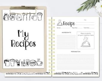 diy printable recipe book templates pdf recipe. Black Bedroom Furniture Sets. Home Design Ideas