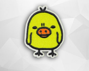 Chick Cartoon Iron on Patch(M2) - Kiiroitori Cartoon Applique Embroidered Iron on Patch - Size 5.4x7.0 cm