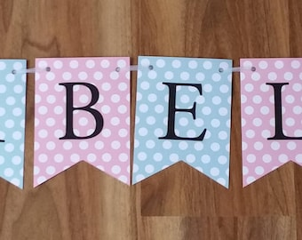Custom Made Owl Personalized Name Bunting Banner High Chair Smash Cake Photo Shoot wall Decor Birthday Banner