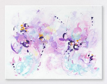 Large Wall art Original abstract painting Abstract art Abstract wall art Painting on Canvas Art Modern artwork Contemporary Violet painting