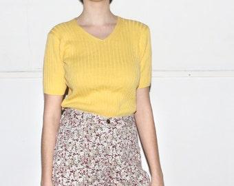 Flower Print Denim High Waisted Shorts - Size 5/6