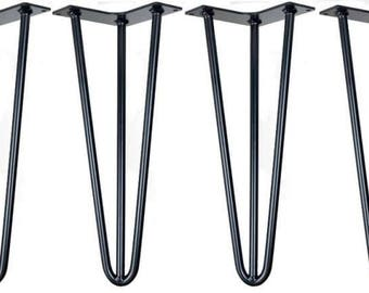 Hairpin legs,Set of 4 - 37cm Hairpin table legs