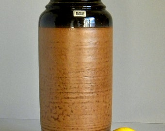 Vintage 70's BAY KERAMIK 630-40 Ceramic Floor Vase, West German Pottery, Fat Lava Period, Mid Century Modern, Retro Home Decor