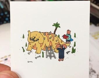 Unique Original Drawing / Elephantiger