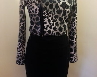 Cropped Jacket, Animal Print, Leopard Print, Sexy Jacket,Bolero Jacket, Vintage Jacket, Jacket, Gifts for Her, Girlfriend Gifts, Coats