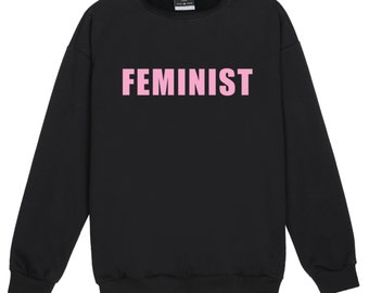FEMINIST SWEATER JUMPER womens ladies funny fun tumblr hipster swag grunge kale goth punk new retro vtg top tee crop music fangirl  girls