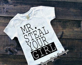 Boys Valentines Shirt, Mister Steal Your Girl, Valentines Day shirt, boys valentines day shirt, trendy boys shirt, Steal Your girl