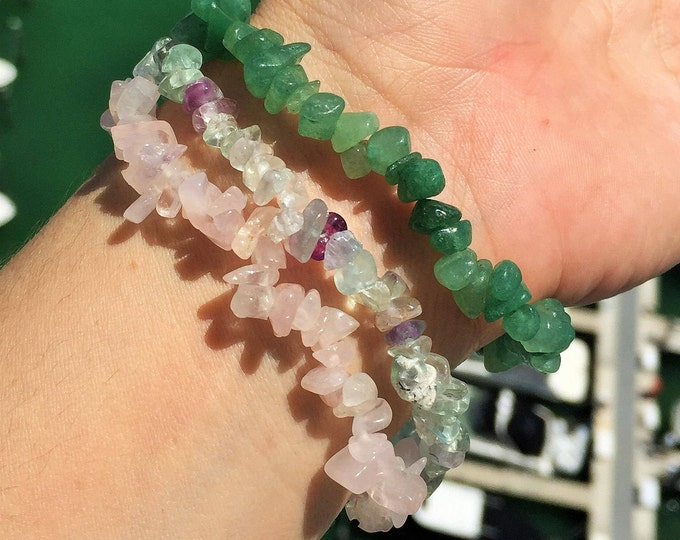 Love Bracelet SET infused w/ Reiki/ Bracelet Stack/Love Crystal Jewelry
