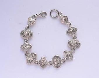 C.Stein Cameo Bracelet, Vintage C.Stein cameo bracelet, Cameo and  fleur de lis bracelet, Vintage Catherine Stein jewelry