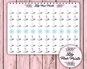 70 Ice Skating Stickers I-02 - Perfect for Erin Condren Life Planners / Journals / Stickers.